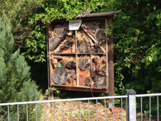 Guess what this is: a hotel for insects! Only in Germany...