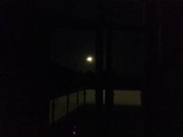 The full moon over Hamburg